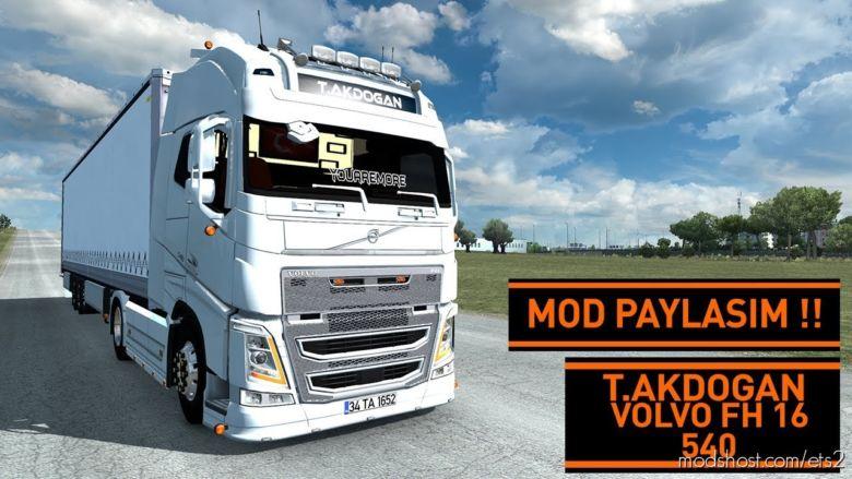 Tanju Akdoğan / Volvo FH16 540 / Mod Paylaşim !! / [1.36] for Euro Truck Simulator 2
