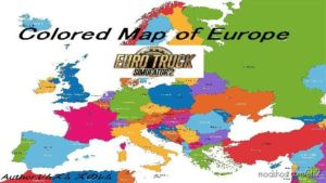Colored Map Of Europe for Euro Truck Simulator 2