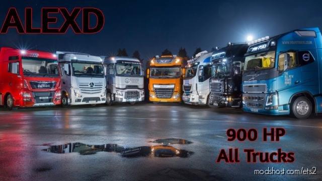 Alexd 900 HP Engine ALL Trucks V1.6 for Euro Truck Simulator 2