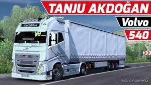 Volvo FH16 540 Tanju Akdoğan + Krone Trailer [1.36] for Euro Truck Simulator 2
