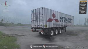 Semitrailer Mitsubishi Container Ship for MudRunner