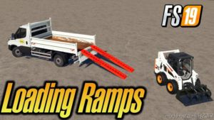Dynamic Aluminium 4T Loading Ramps With Attacher for Farming Simulator 19