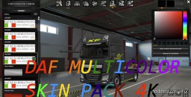 DAF Multicolor Skin Pack [1.36] – [1.37] for Euro Truck Simulator 2