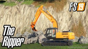 Ripper R115 For Hitachi Excavator for Farming Simulator 19