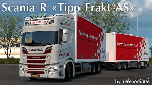 Scania R NG Tipp Frakt AS Skin for Euro Truck Simulator 2