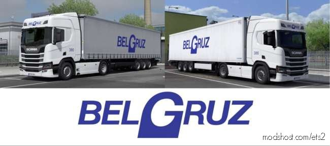 Belgruz For Scania R NG 2016 And ITS Krone Trailer for Euro Truck Simulator 2