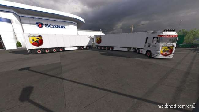 Skin Trailer Abarth [1.36.X] for Euro Truck Simulator 2