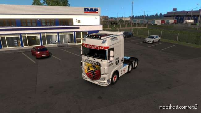 Skin DAF XF Euro 6 Abarth [1.36.X] for Euro Truck Simulator 2
