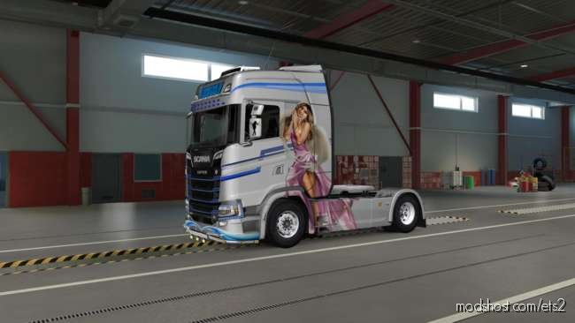 Angel Paintjob For Scania S 2016 V2.0 for Euro Truck Simulator 2