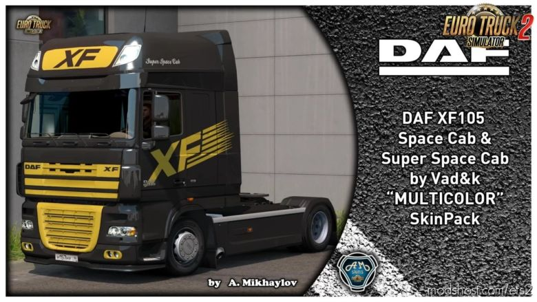 DAF XF 105 Multicolor Skin Pack (1.37.X) for Euro Truck Simulator 2