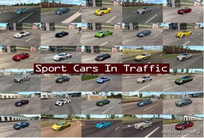 Sport Cars Traffic Pack By Trafficmaniac V6.0 for Euro Truck Simulator 2