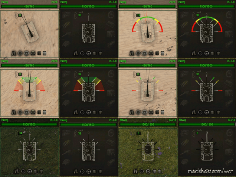 12 PRO Damage Panels [1.9.0.0] for World of Tanks