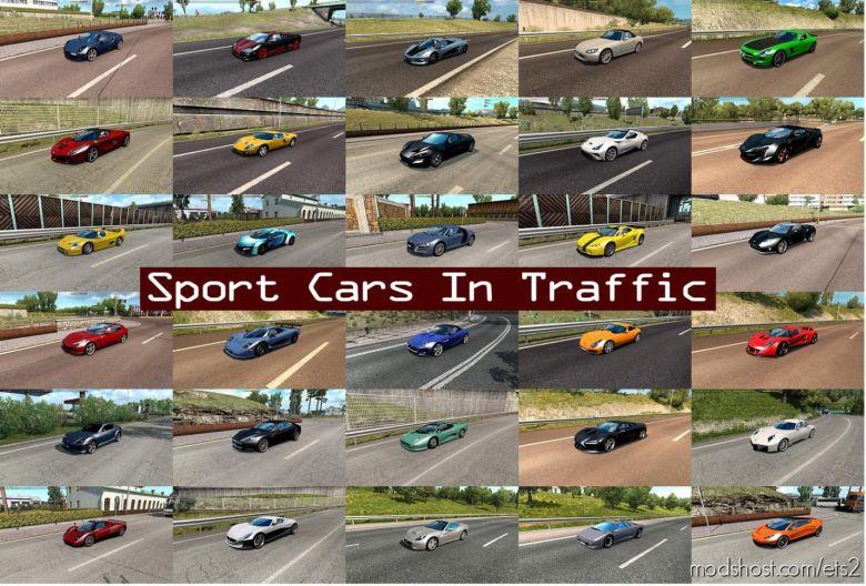 Sport Cars In Traffic Pack V6.0 By Trafficmaniac (1.36.X) for Euro Truck Simulator 2