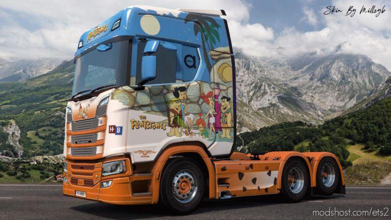 The Flintstones NG Scania Skin for Euro Truck Simulator 2
