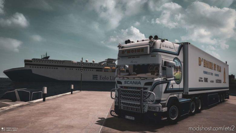 Scania D'hoine & Trailer [1.37] for Euro Truck Simulator 2