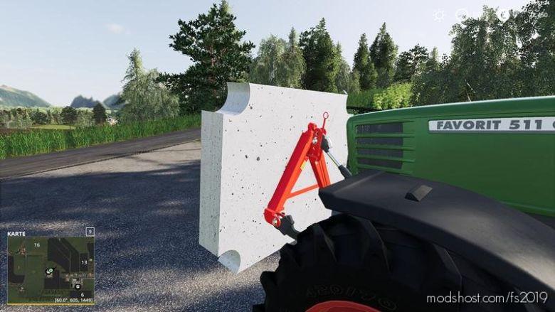 Concrete Homemade Weight for Farming Simulator 19