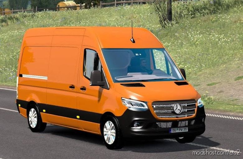 Mercedes Sprinter 2019 V3.0 Beta for Euro Truck Simulator 2