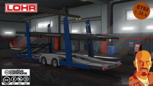 Lohr CAR Transport Trailer DX11 [1.36.X] for Euro Truck Simulator 2