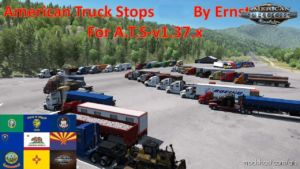American Truck Stops V1.5.1 [1.37.X] for American Truck Simulator