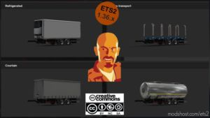 BDF Trailers For Scania Megamod [1.36.X] for Euro Truck Simulator 2
