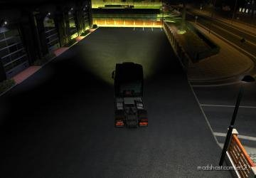 Yellow Xenon Lights for Euro Truck Simulator 2