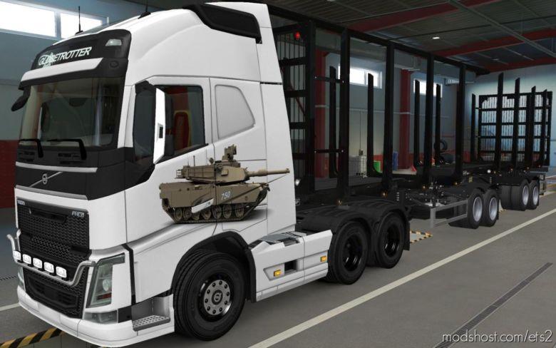 Skin Volvo FH16 2012 By Pendragon Tank M1 Abrams [1.37] for Euro Truck Simulator 2