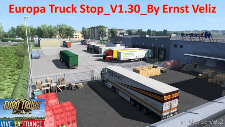 Europa Truck Stop V1.30 [1.36.X] for Euro Truck Simulator 2