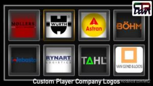 Custom Player Company Logos for Euro Truck Simulator 2