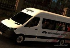 Minibus Skin For Mercedes Benz Sprinter 2019 for Euro Truck Simulator 2