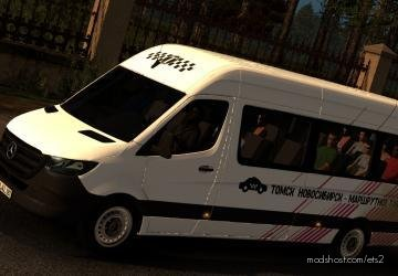 Minibus Skin For Mercedes Benz Sprinter 2019 for Euro Truck Simulator 2