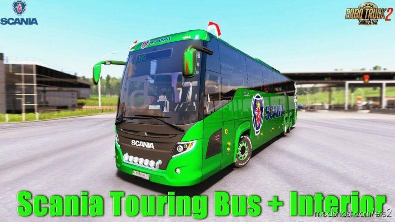 Scania Touring BUS + Interior V1.5 [1.36.X] for Euro Truck Simulator 2