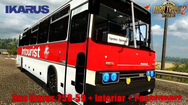 Ikarus 250-59 Apollo + Interior + Passengers V2.0 for Euro Truck Simulator 2