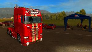 Scania V8 Racing For Multiplayer for Euro Truck Simulator 2