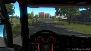 Black And RED Interior For Scania [1.37] for Euro Truck Simulator 2