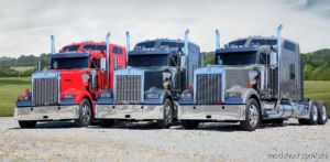 Real Engine Sounds For SCS Kenworth Trucks V5 [1.37] for American Truck Simulator