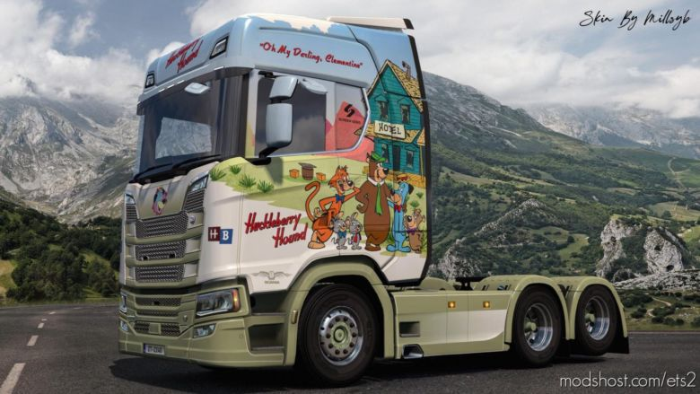 Huckleberry Hound NG Scania Skin for Euro Truck Simulator 2