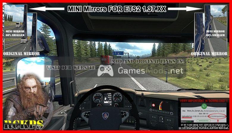 Mini Mirrors [1.37.X] for Euro Truck Simulator 2