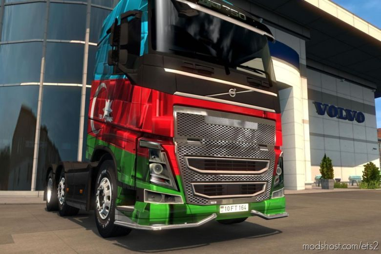 Skin For Volvo FH16 Azerbaijan for Euro Truck Simulator 2