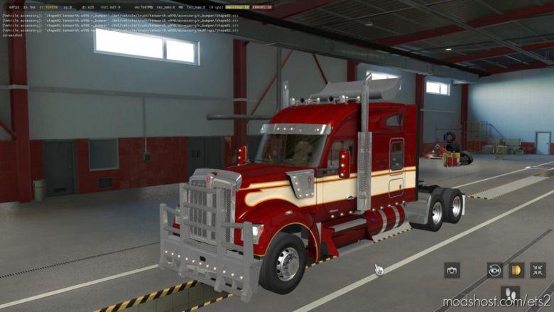 Kenworth W990 Edited V1.2.2 [1.37 Beta] for Euro Truck Simulator 2