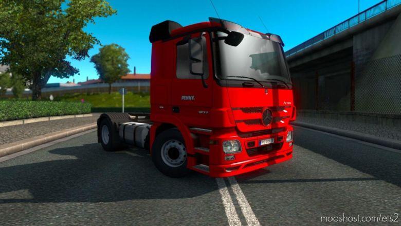 Penny Skin For Mercedes-Benz Actros 2009 V1.4 for Euro Truck Simulator 2