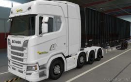 Skin Scania S Next GEN 8×4 Transportadora PRA Frente Brasil [1.37] for Euro Truck Simulator 2