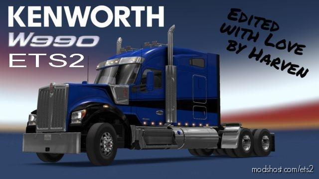 Kenworth W990 Edited By Harven V1.2.2 for Euro Truck Simulator 2