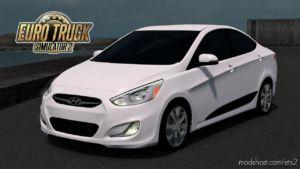 Hyundai Accent Blue 2010 V3.0 [1.36.X] for Euro Truck Simulator 2