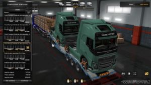 Combined Truck Transporter Trailer Owned for Euro Truck Simulator 2