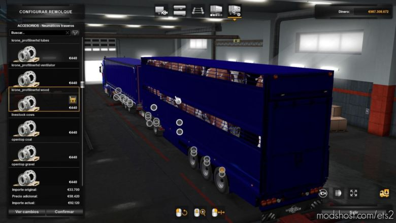 Combined Livestock Trailer Owned for Euro Truck Simulator 2