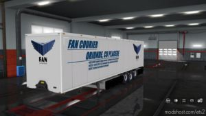 FAN Courier Trailer Skin for Euro Truck Simulator 2