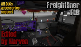 Freightliner FLB All DLCs Support for Euro Truck Simulator 2
