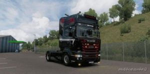 Black And RED Skin For Scania RJL for Euro Truck Simulator 2