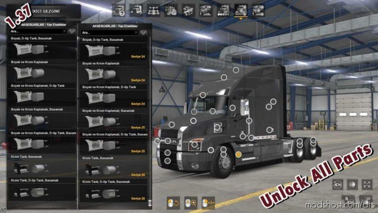 Unlock ALL Parts [1.37X] for American Truck Simulator