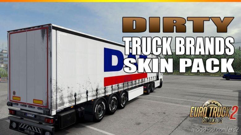 Dirty Trucks Brand Skins For Trailers for Euro Truck Simulator 2